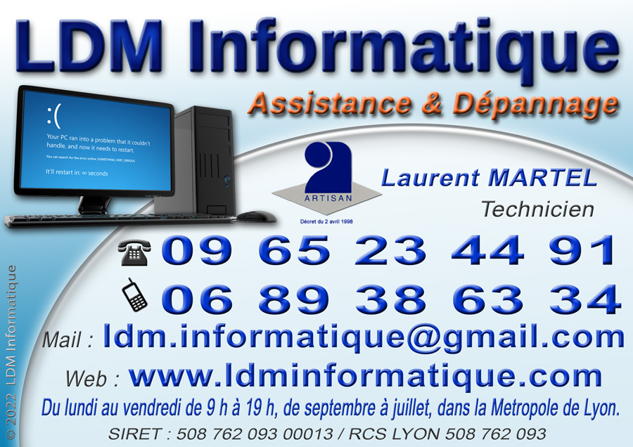Carte de visite LDM Informatique